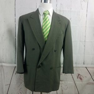 Mani Stanley Korshak 40S Dble Breasted Suit Blazer
